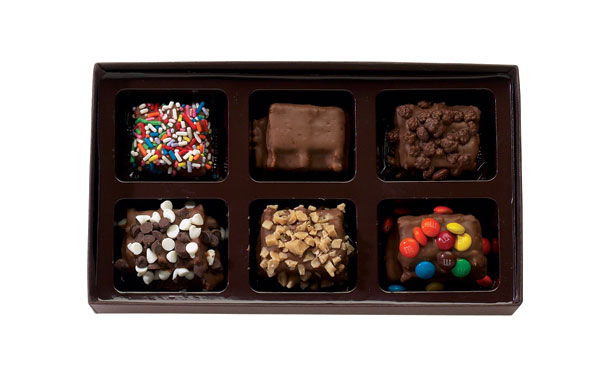 Milk Chocolate 6 Piece Mini Waffle Gift Box